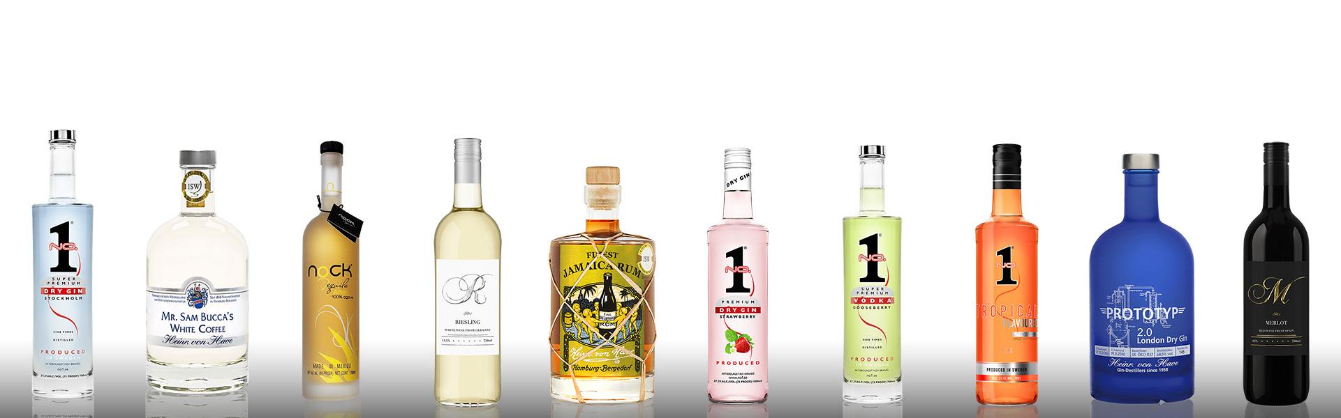 butelki vodka premium NO.1